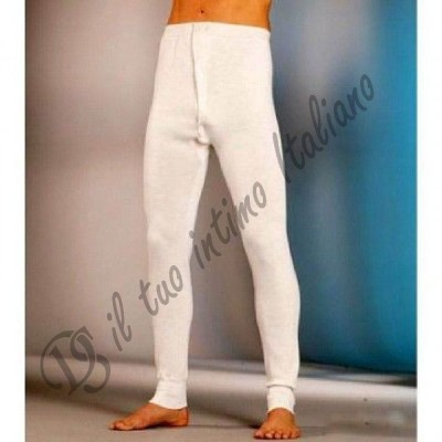 Mutanda uomo gamba lunga misto lana Venegoni ecru